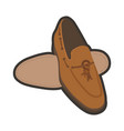 Classic brown male shoes vector image