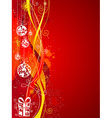 Grunge red Christmas background vector image