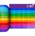 Happy New Year 2017 colorful calendar vector image