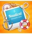 Marine Card Template vector image