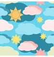 seamless pattern with clouds and sun vector image