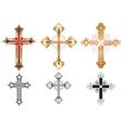 three gold cross vector image