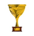 trophy award sport win sport abstract geometric vector image
