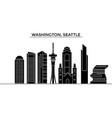 usa washington seattle architecture city vector image