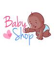 Baby shop logo vector image