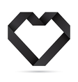 Black heart origami vector image vector image