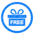 gift rounded grainy icon vector image