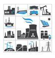 Power icons vector image