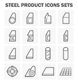 Steel structure pipe icon vector image