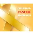 Childhood Cancer Awareness gold ribbon background vector image