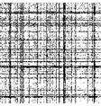 Checkered grunge black pattern vector image
