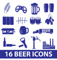 beer icon set eps10 vector image