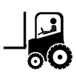 forklift tractor icon image vector image