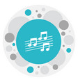 of mp3 symbol on note icon vector image