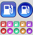 Petrol or Gas station Car fuel icon sign A set of vector image