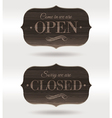 Retro wooden signs - Open and Closed vector image