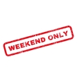 Weekend Only Rubber Stamp vector image