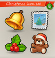 funny christmas icons-6 vector image
