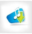 Music web icon vector image