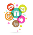Shopping Icons Poster vector image