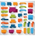 Set of flat design elements banners and tags vector image vector image