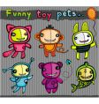 cute toys animals vector image vector image