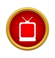 TV icon in simple style vector image