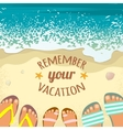 Summer background with sea sand beach sandals vector image