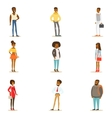 Afro-American Black People Street Style Clothing vector image