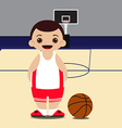 Basketball court basketball player vector image