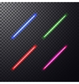 colorful laser beam vector image