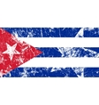 Grunge Cuban flag Artwork vector image
