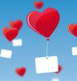 heart shaped balloons vector image