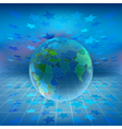 holographic world vector image