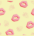 lips pattern vector image