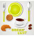 set of icons breakfast vector image