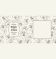 wedding card with lily flowers vector image