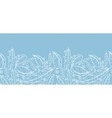 White on blue feathers horizontal seamless pattern vector image