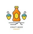 Craft beer concept vector image