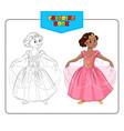 Coloring book Princess vector image