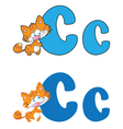 letter C cat vector image vector image