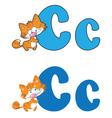 letter C cat vector image