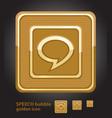 glamour golden icon - speech bubble vector image