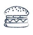 figure tasty and fresh hamburger fast food vector image