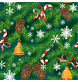 Christmas and New Year background in green colors vector image