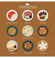 set of chinese food vector image