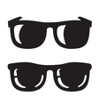 black Sunglasse icons vector image