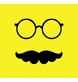 Mustache and Glasses  Flat vector image vector image