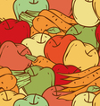 Apples and Carrots Seamless Pattern vector image