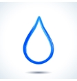 Blue watercolor brush painted ink water drop vector image